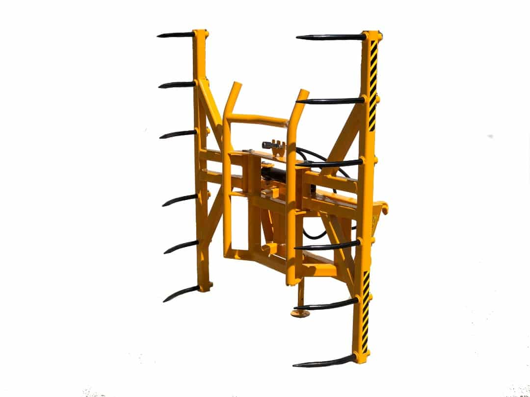 Vertical-bale-grab-stacker-squeezer-double
