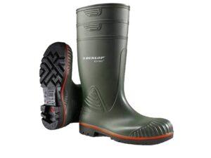 Catalogue image of dunlop acifort heavy duty full safety heavy duty hard wearing red green black waterproof wellington boots